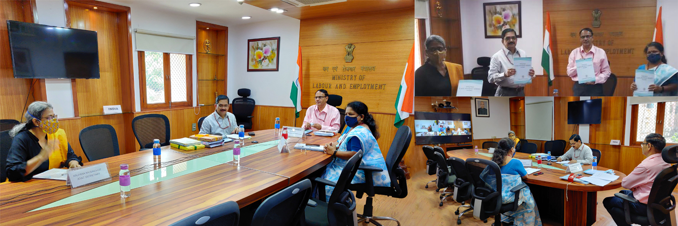 A Meeting of the Executive Council of the V.V. Giri National Labour Institute (VVGNLI) was held on 24th August, 2020 at the Ministry of Labour & Employment, Shram Shakti Bhawan, New Delhi