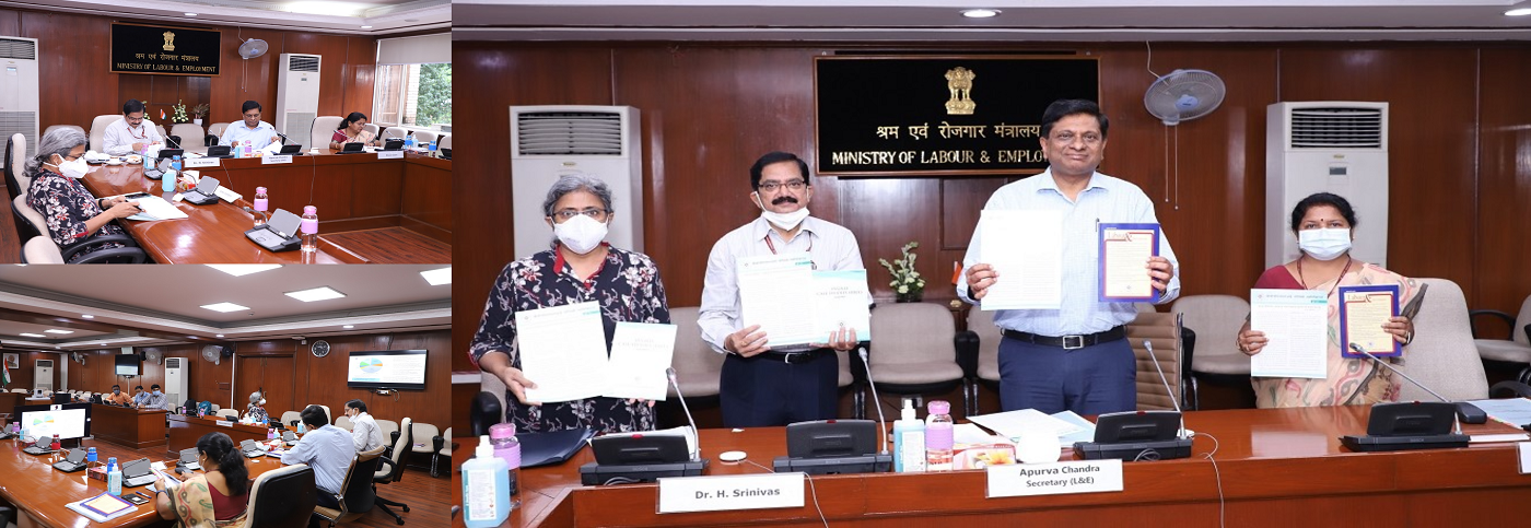 A Meeting of the Executive Council of the V.V. Giri National Labour Institute (VVGNLI) was held online under the Chairpersonship of Shri Apurva Chandra, Secretary, Ministry of Labour & Employment (MOLE), and Chairperson, Executive Council, VVGNLI
