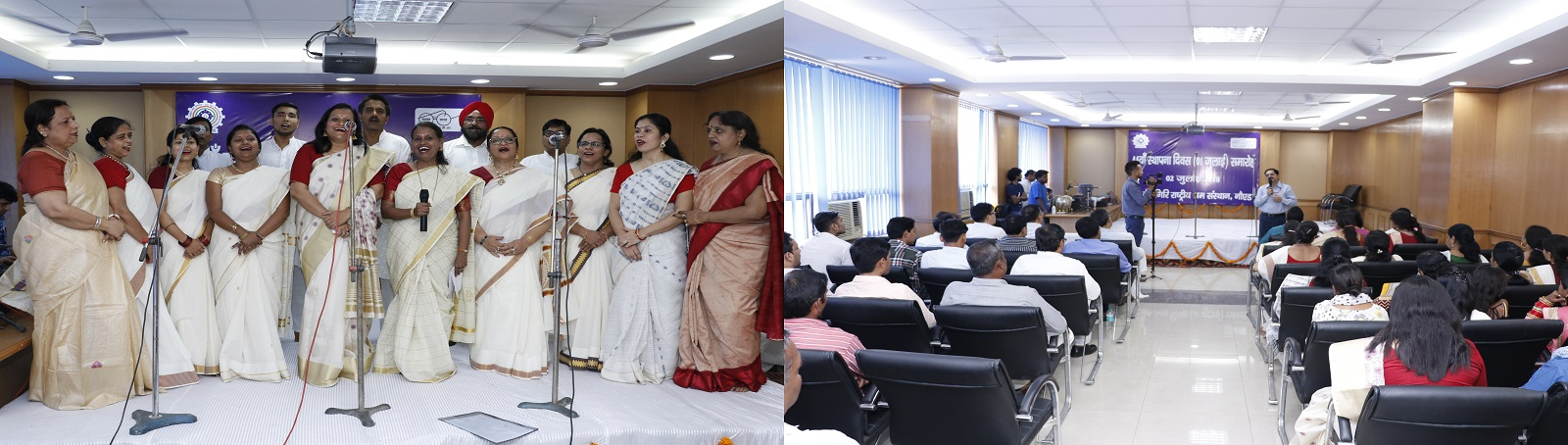 V V Giri National Labour Institute celebrated its 44th foundation day on 2nd July 2018. Dr H Srinivas, Director General addressed the officials and staff on this occasion and also various cultural programmes were organised at the institute.