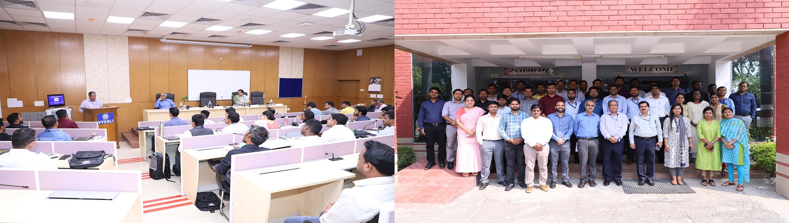 VVGNLI is conducting a training programme on 'Labour Laws and Labour Issues' for the 40 probationers of the Indian Railway Personnel Service and Indian Railway Account Service from 14th to 18th October, 2019 at VVGNLI campus. The programme was inaugurated